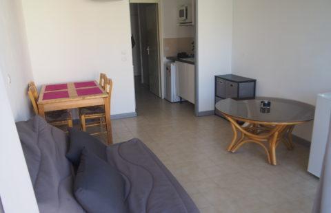 T2 meublé de 27,58 m² avec loggia